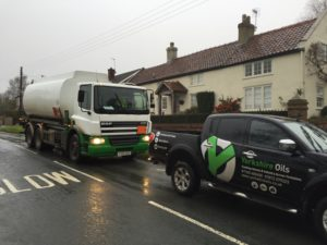 Heating Oil tanker and truck