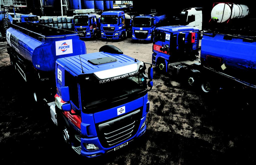 Fuchs Lubricant lorry